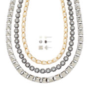 Mixit™ Gold- and Silver-Tone 6-pc. Earring and Necklace Set