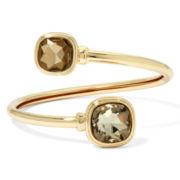 Monet® Yellow Stone Gold-Tone Bangle Bracelet
