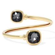 Monet® Gray Stone Gold-Tone Bangle Bracelet