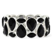 Liz Claiborne® Black Stone Stretch Bracelet