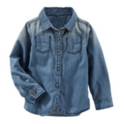 OshKosh B'gosh® Woven Denim Shirt - Preschool Girl 4-6x
