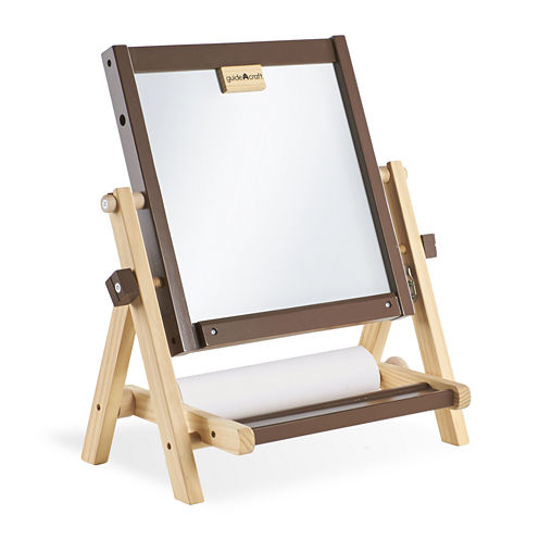 Guidecraft 4-in-1 Flipping Tabletop Easel - Brown