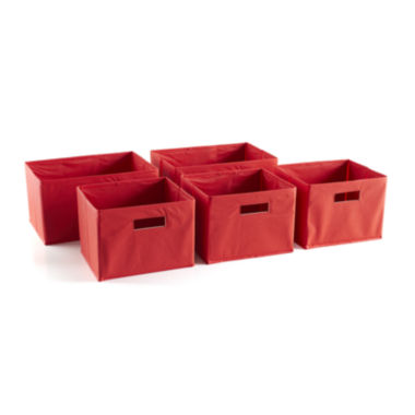 jcpenney.com | Guidecraft 5 Storage Bins - Red