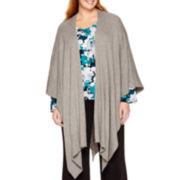 Liz Claiborne® Wrap Poncho - Plus