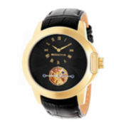 Swiss Eagle® Landmaster Mens Black Dial Black Stainless Steel Chronograph Watch SE-9044-33