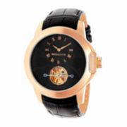 Swiss Eagle® Landmaster Mens Black Dial Black Silicone Strap Chronograph Watch SE-9044-01