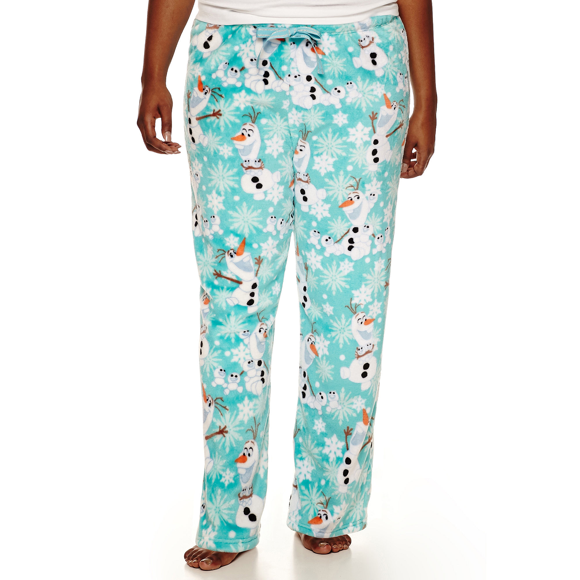 Disney Olaf Fleece Pajama Pants-Juniors Plus plus size,  plus size fashion plus size appare