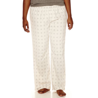 jcpenney.com | Flirtitude Microfleece Pajama Pants-Juniors Plus