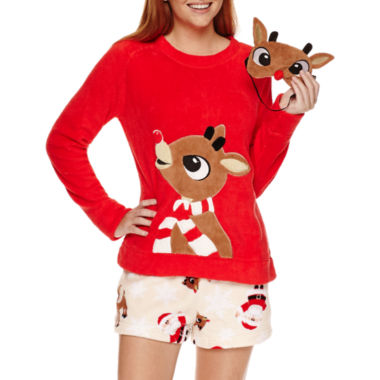 jcpenney.com | Secret Santa Shorts Pajama Set-Juniors
