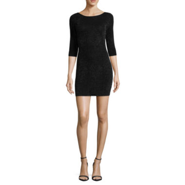 jcpenney.com | by&by 3/4 Sleeve Bodycon Dress-Juniors