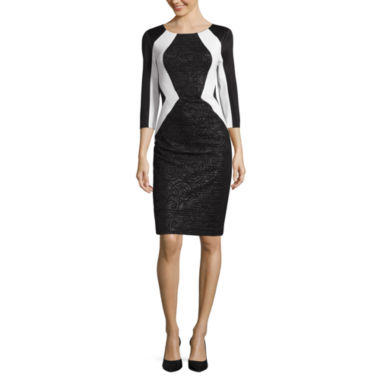 jcpenney.com | Signature By Sangria 3/4 Sleeve Sheath Dress