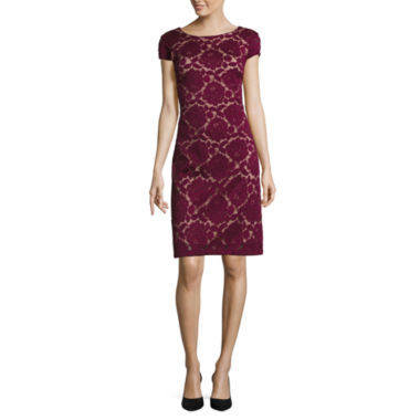 jcpenney.com | R & K Originals Lace Short Sleeve Sheath Dress