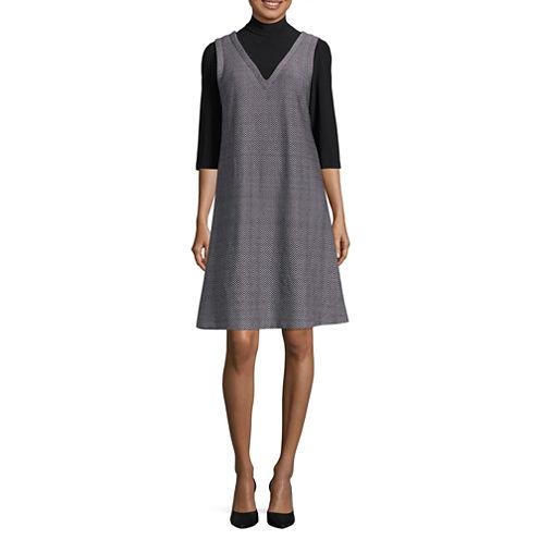 Perceptions 3/4 Sleeve Shift Dress