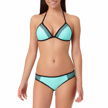 jcpenney.com | Arizona Mesh Pushup Triangle Swim Top or Mesh Mint Hipster Bottoms