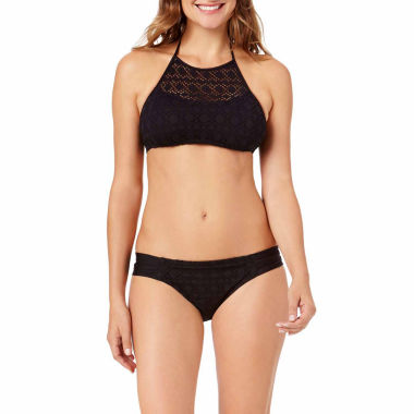jcpenney.com | a.n.a® Crochet High-Neck Swim Top or Crochet Side-Tie Hipster Swim Bottoms