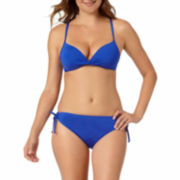a.n.a® Solid Pushup Bra Swim Top or Keyhole Hipster Swim Bottoms