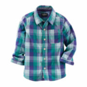 OshKosh B'gosh® Long-Sleeve Plaid Button-Front Shirt - Toddler Boys 2t-5t
