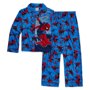 jcpenney.com | Marvel Spiderman Coat Front Pajama Set- Boys 4-10
