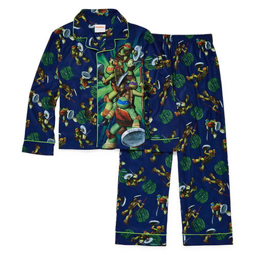 2-pc. Button-Front Teenage Mutant Ninja Turtles Pajama Set- Boys 4-10