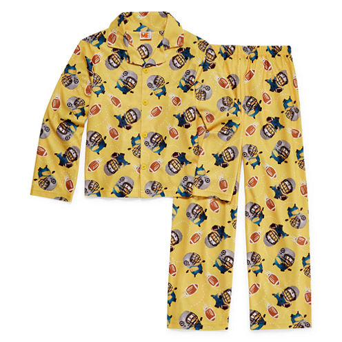 Minions Coat Front Pajama Set- Boys