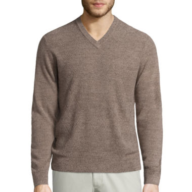 jcpenney.com | Dockers V Neck Long Sleeve Pullover Sweater