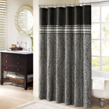 jcpenney.com | Madison Park Denton Jacquard Shower Curtain