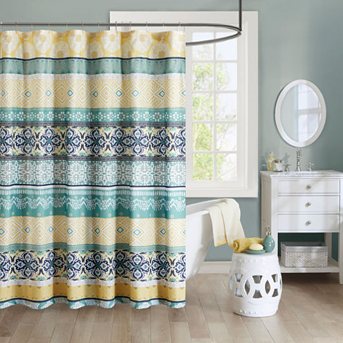 Intelligent Design Celeste Microfiber Shower Curtain