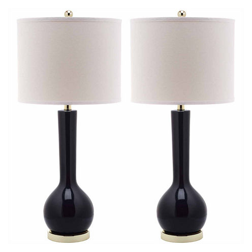 Safavieh Mei Long-Neck Ceramic Table Lamps- Set of2