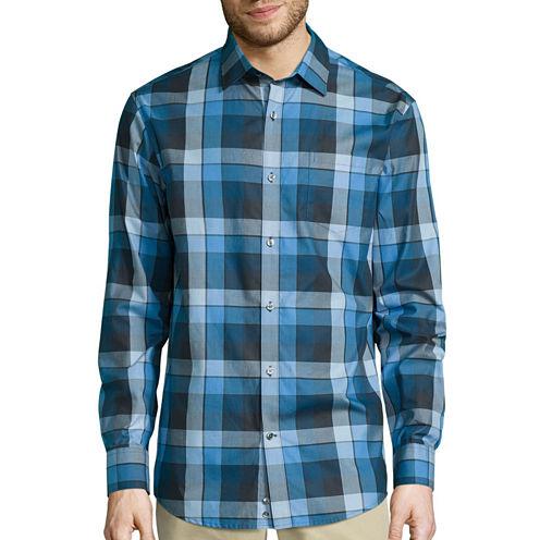 Claiborne® Long-Sleeve Purple Woven Shirt
