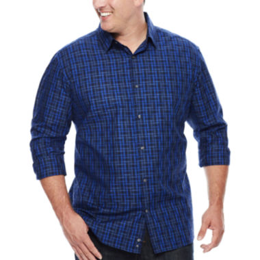 jcpenney.com | Claiborne® Long-Sleeve Woven Cotton Shirt - Big & Tall