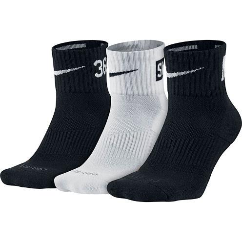 Nike® Dri-FIT Mens 3-pk. Fly Rise Quarter-Socks