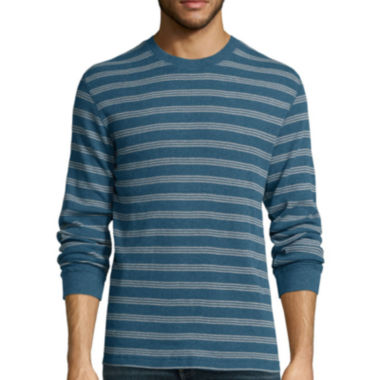 jcpenney.com | St. John's Bay® Long-Sleeve Striped Thermal Shirt