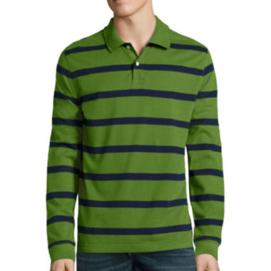 jcpenney.com | St. John's Bay® Long-Sleeve Striped Polo