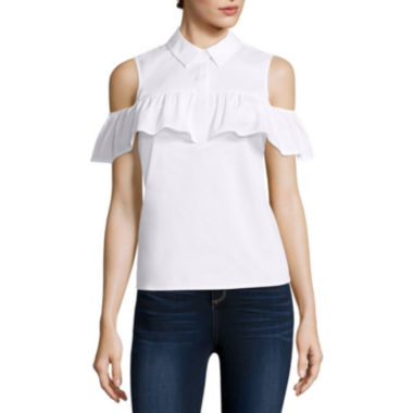 jcpenney.com | BELLE + SKY™ Cold-Shoulder Shirt