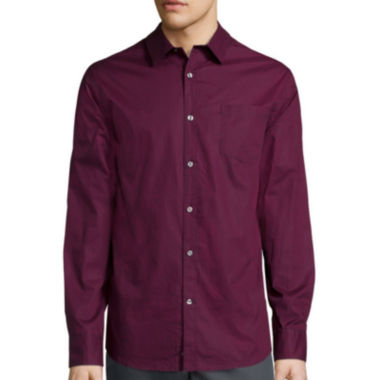 jcpenney.com | Claiborne® Long-Sleeve Collections Slim-Fit Stretch Woven Shirt