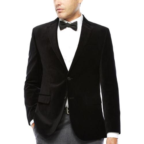 JF J. Ferrar Velvet Sport Coat Slim Fit