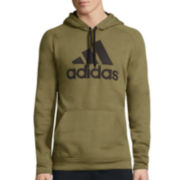 adidas® Long-Sleeve Essentials Cotton Pullover Hoodie