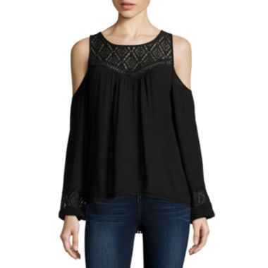 jcpenney.com | Rewind Long-Sleeve Cold-Shoulder Victorian Top - Juniors