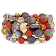Triple-Row Bead Stretch Bracelet
