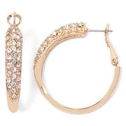 nicole by Nicole Miller Crystal Hoop Earrings