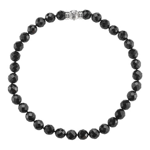 Faceted Onyx Magnetic Closure Necklace
