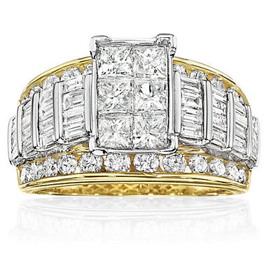 jcpenneycom 3 ct tw diamond multi stone engagement ring - Jcpenney Wedding Rings