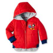 Disney Mickey Puffer Jacket - Boys 3m-24m