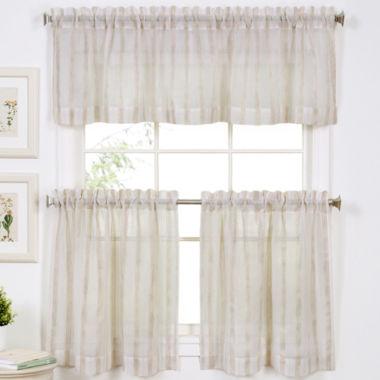 Linen Stripe Rod Pocket Window Treatments