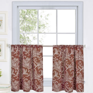 jcpenney.com | Flora Rod-Pocket Window Tiers