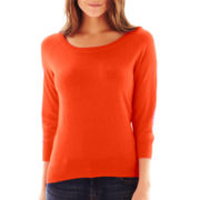 jcp™ 3/4-Sleeve Sweater