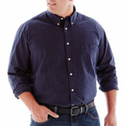 The Foundry Supply Co.™  Patterned Poplin Shirt–Big & Tall