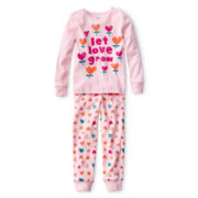Joe Fresh™ 2-pc. Pajamas - Girls 1t-5t