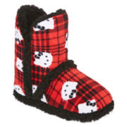 Hello Kitty® Womens Short Bootie Slippers
