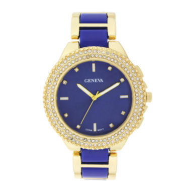 jcpenney.com | Geneva Womens Crystal-Accent Blue Dial Bracelet Watch